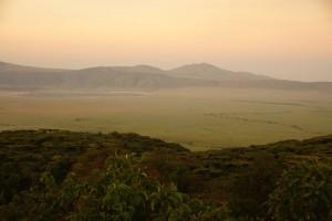 Dunst über dem Ngorongoro - ein letzter Gruß. Foto: Kathrin Schierl