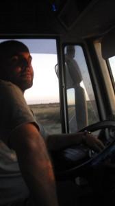 Unser erster Truckfahrer - Ziel: Bariloche! Foto: Nora von Breitenbach