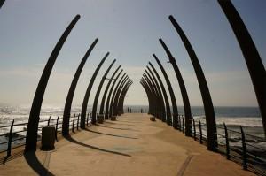 Der Pier am Strand von Durban.