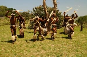 Eine Zulu-Tanzgruppe.