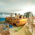 Das Wasser-Piratenland ist ein Traum für Kinder. Foto: Alpenrose