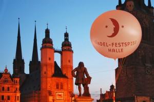 Abendstimmung am Marktpaltz in Halle während der Händel-Festspiele. - Foto: Thomas Ziegler