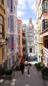 In den Gassen von A Coruña.