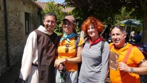Spanische Pilgergruppe.