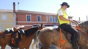 Pilger zu Pferd.