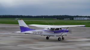 Start mit der Cessna.