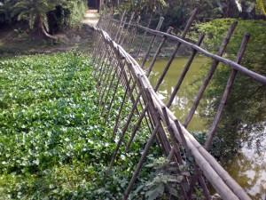 Abenteuerliche Brücke.