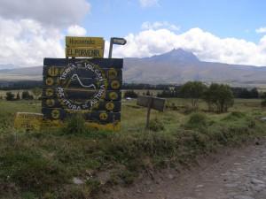 Hinweisschild auf eine der vielen Haciendas im Land.