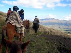 Auf den Hochflächen sind Pferde die wichtigsten Begleiter der Menschen.