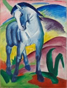 """Das """"Blaue Pferd"""" von Franz Marc zählt zu den eindrucksvollsten Gemälden des Expressionismus. - Foto: Google Art Project"""