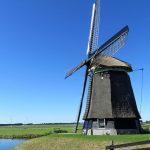 Windmühlen: Neben Blumen und Vögeln ein weiterer Blickfang in Holland, wo sie seit dem 14. Jahrhundert zur Entwässerung eingesetzt wurden, um das Wasser aus den Poldern in mehreren Stufen über die Dämme zu heben. Damit waren Windmühlen die leistungsstärksten Kraftmaschinen der vorindustriellen Zeit.