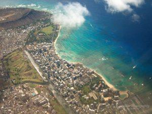 Honolulu vor dem Landeanflug.
