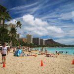 Ein ganz normaler Strandtag am Waikiki Beach.