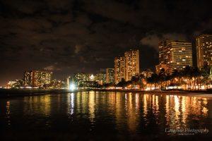 Waikiki by night.