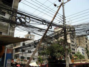 Elektrik in Dhaka.