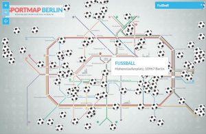 Sportmap Berlin - hier Fußball.