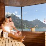 Entspannung pur bietet die Panoramasauna. – Foto: Hotel Post am See