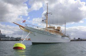 """Die königliche Yacht """"Dannebrog"""" (Bild: Oliver Richter)"""