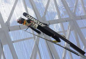 Skispringer bei Skisprungschanze Holmenkollbakken auf dem Holmenkollen (Bild: Oliver Richter)