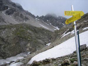 Aufstieg zur Seescharte in den Lechtaler Alpen