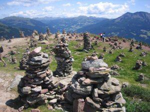 Gipfel: Stoanernde Mandln in Südtirol.