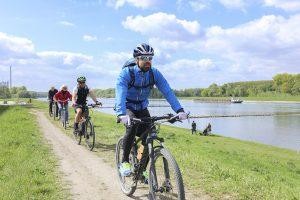 Radfahrer können, wenn sie rund um Karlsruhe unterwegs sind, jede Menge Spannendes über die heimische Flora und Fauna erfahren. - Foto: Karlsruhe Tourismus GmbH