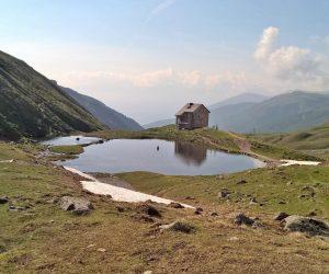 Alte Pforzheimer Hütte in der Sesvenna-Gruppe im Vinschgau.