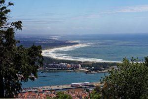 An klaren Tagen reicht der Blick fast bis Porto.