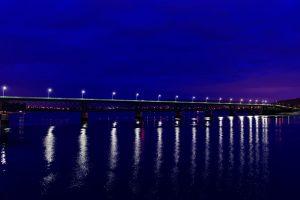 Die von Gustave Eiffel erbaute Stahlbrücke führt über den Rio Lima.