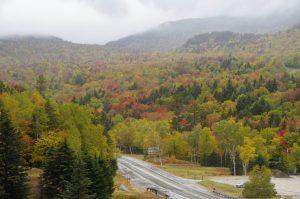 """""""Regenschlacht"""" in den schönen und wilden White Mountains."""