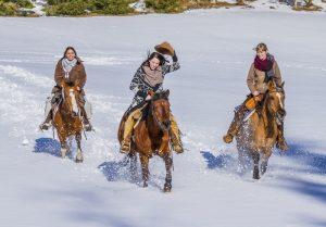 Eine besondere Attraktion: Winterreiten im Mühlviertel. Foto: ©Stonehill Ranch_Kastner