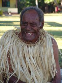 Einer der Dorfältesten während der Kava-Zeremonie.
