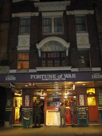 Fortune of War - ältester Pub Sydneys.
