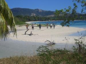 Lebensfreude auf den Fidschi-Inseln.