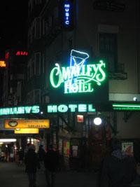 Pubhotel O'Malley's in Kings Cross.