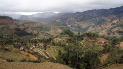 Vietnamesische Berglandschaft.