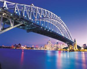 Sydneys Wahrzeichen bei ganz besonderem Licht.