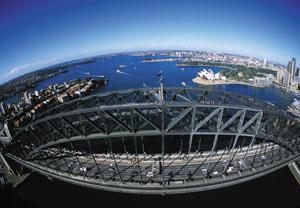 Sydney von oben: Die Zeit in der Metropole ist zu Ende.