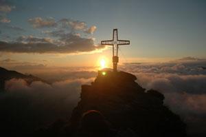 Das Ziel: der Gipfel des Tristkogels. Foto: Hotel Unterschwarzachhof