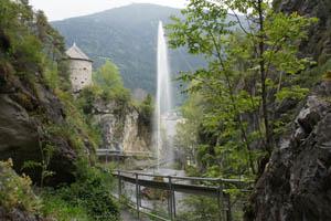 Fontäne in der Lochklamm. Foto: Kathrin Schierl