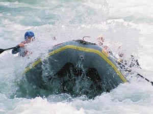 Durch die Wasserwalze. Foto: Archiv TVB TirolWest_Sport Camp Tirol