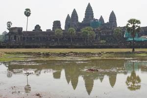 Angkor Wat entfaltet sogar eingerüstet viel von seiner Magie.