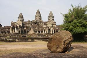 Der bekannteste Tempel des archälogischen Parks: Angkor Wat
