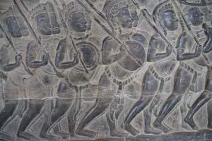 Die Flachreliefs von Angkor Wat sind über 800 Meter lang.