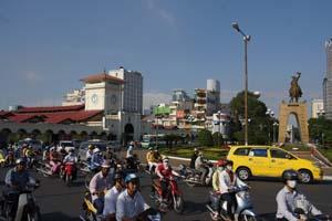 Immer viel Trubel: Saigon.