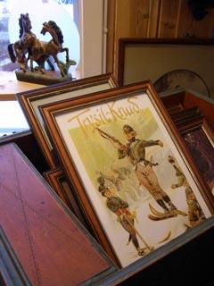 Allerlei Altes gibt's in Trysil, natürlich im Antik-Laden.