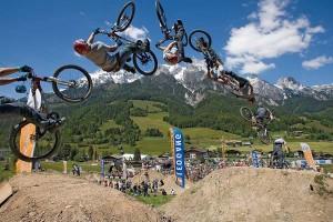 Der Bikepark Leogang ist nur etwas für hartgesottene Burschen. - Foto: Leoganger Bergbahnen
