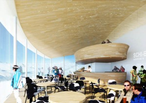 Neuer Anziehungspunkt auf dem Pitztaler Gletscher ist das Café 3440.