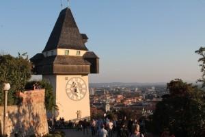 Von Grazer Festungsberg bietet sich ein wundervoller Blick über die Altstadt, Foto: Heiner Sieger