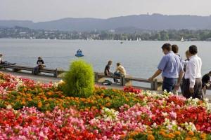 Zürich, am gleichnamigen See gelegen, hat eine sehr hohen Freizeitwert. - Foto: Zürich Tourismus